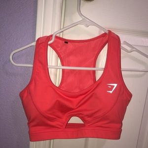 GymShark Cherry Red Sports Bra